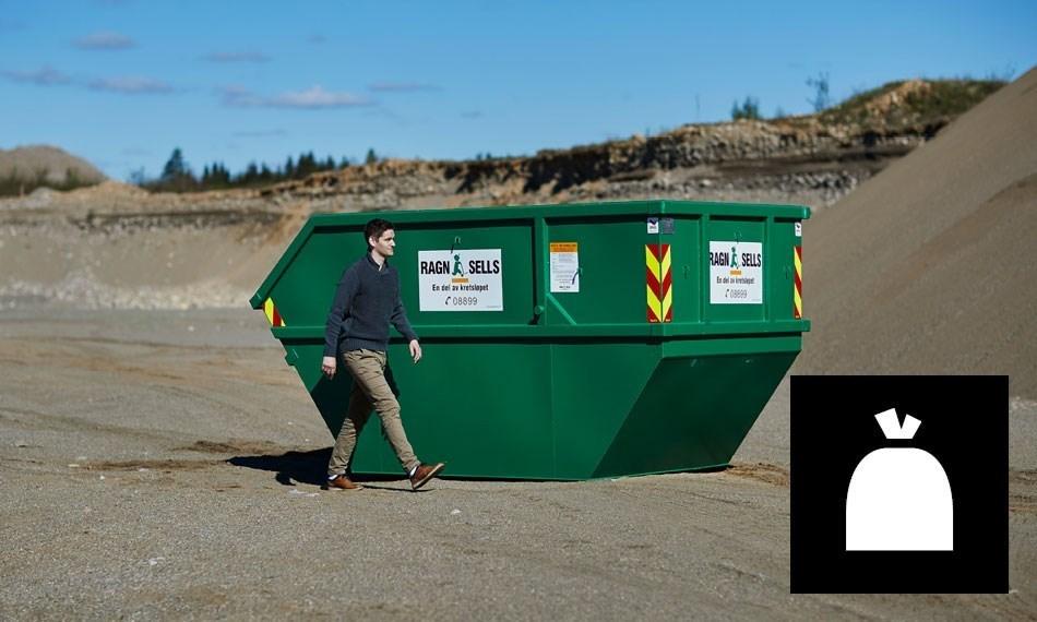 10m3 container til blandet avfall.