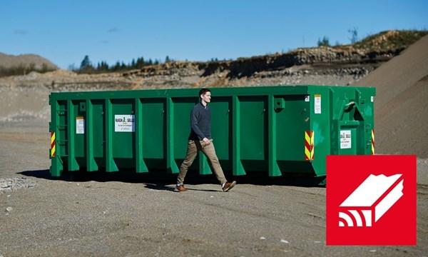Containerutleie - 20m3 impregnert trevirke.