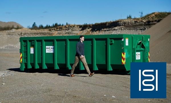 Containerutleie - 20m3 container til isolasjon.